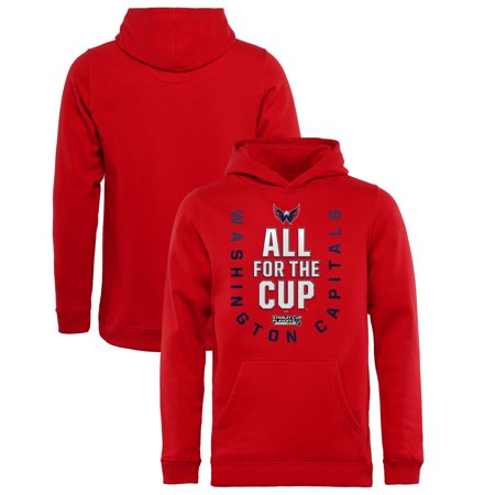best loved 57724 c604e Washington Capitals Fanatics Branded Youth 2018 Stanley Cup Playoffs Bound  Behind The Net Pullover Hoodie - Red