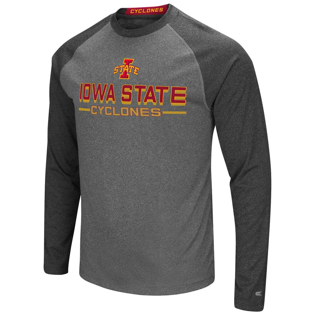 Iowa State Cyclones Long Sleeve T-Shirt Raglan Graphic Tee