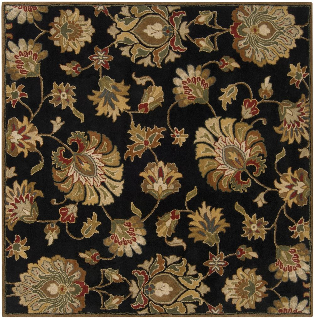 Contemporary Caesar Collection Area Rug in Black-Brown  and Oval, Rectangle, Round, Runner Shape