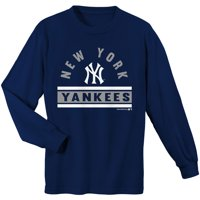 Youth Navy New York Yankees Basic Long Sleeve T-Shirt