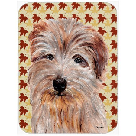 Norfolk Terrier Fall Leaves Mouse Pad, Hot Pad or Trivet SC9688MP