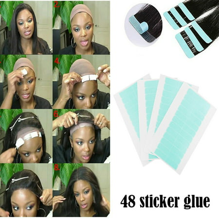 Tuscom Hair Double-sided Waterproof Tape for Hair Double-sided Tape Wig Adhesive Tape (Wig Tape)