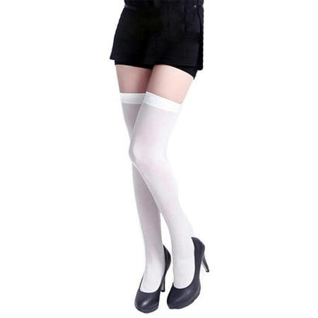 9e7b21966fb Angelique - Womens Full Figure Plus Size Nylon Opaque Thigh High Stockings  Tights - Walmart.com