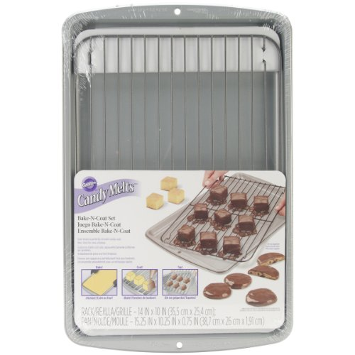 Wilton 2105-0170 Candy Cooling Grid with Cookie SHeet by