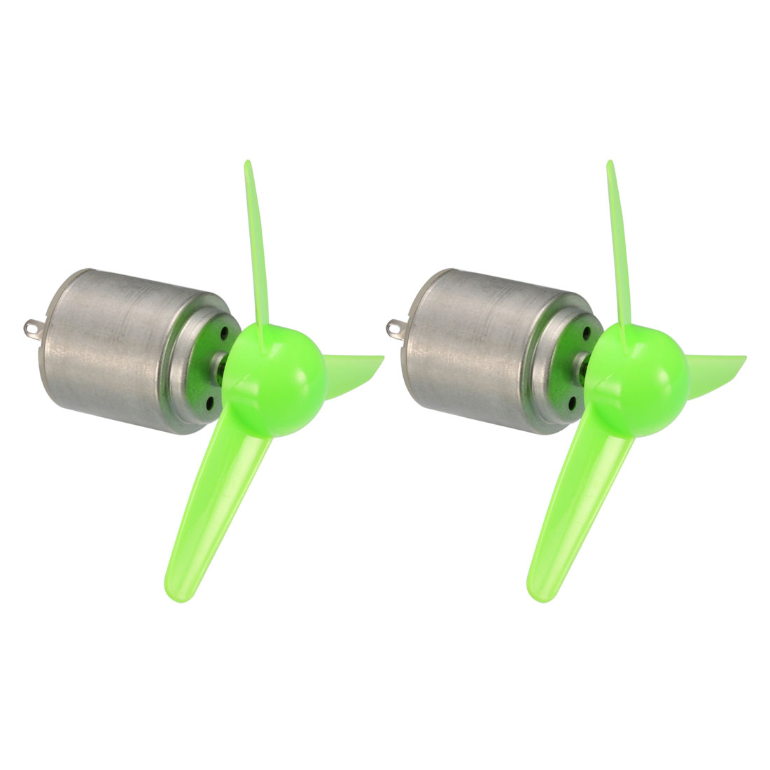 2Pcs 7,500RPM 3V 0 9A High Torque DC Motor w 3-Vanes 80mm Green Propeller