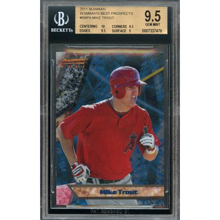 2011 Bowmans Best Prospects Bbp9 Mike Trout Rookie Card Bgs 95 10 95 95 9