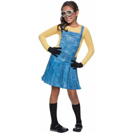 Minion Female Child Halloween Costume - Minion Halloween Costume For Kids