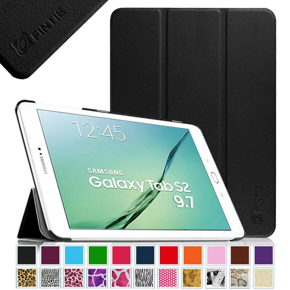Fintie Case for Samsung Galaxy Tab S2 9.7 Tablet - Slim Lightweight Stand Cover with Auto Sleep/Wake, Black