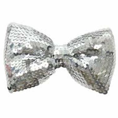 Silver Sequin Bow Tie Costume Accessory - image 1 de 1