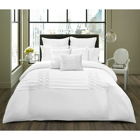 City Scene Triple Diamond White Comforter Set, Full/Queen - City Scene