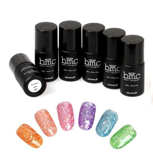 BMC Hexagon Shaped Glitter Nail Lacquer Gel Polish Master Set - Woodland Fantasy
