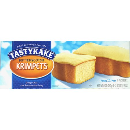 2 Boxes Each Tastykake Butterscotch Krimpets and Peanut Butter Candy Cakes Tastycakes Kandy Kakes