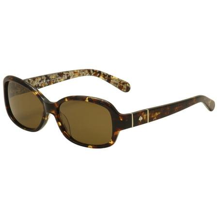 Kate Spade Womens Cheyenne P S Cx4p Vw Havana Silver Fashion Sunglasses 55Mm