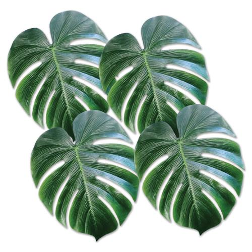 Club Pack of 48 Green Tropical Hawaiian Palm Leaves Decorations 13""