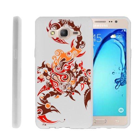 Samsung Galaxy On5 G550, Flexible Case [FLEX FORCE] Slim Durable TPU Sleek Bumper with Unique Designs - Scorpion