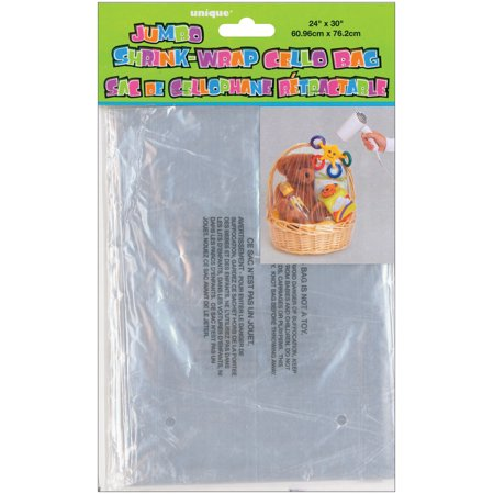 Cellophane Shrink Wrap Bag 30 X 24 In Clear 1ct Walmart Com