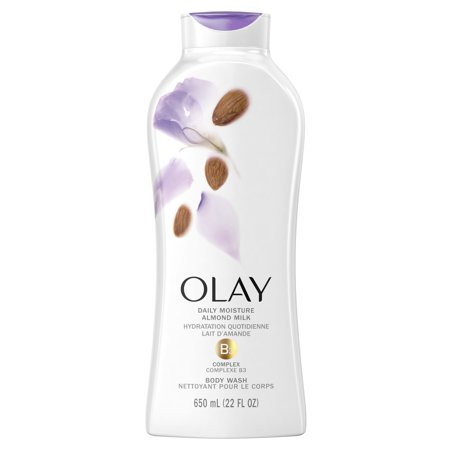 Olay Daily Moisture Body Wash with Almond Milk, 22 fl oz