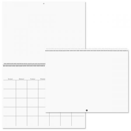 "Blank Wall Calendar - No Months, No Numbers, Scrapbooking, 9"" x 12"" Closed, Arts and Crafts"