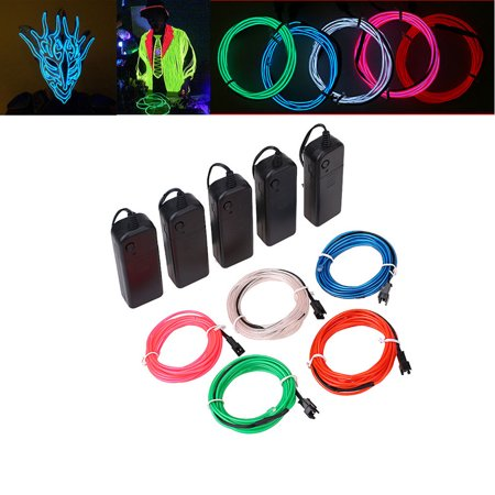 5 Colors 3M Flexible EL Wire Rope Neon Light Lamp Glow Decorative ...