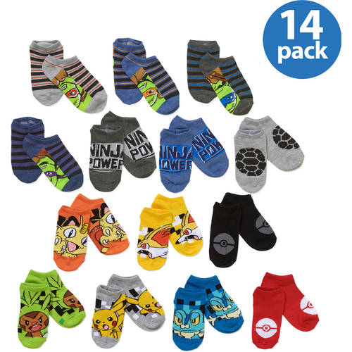 Boys' Character No Show Sock Bonus Pack Your Choice 14-Pack Value Bundle
