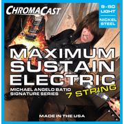 ChromaCast Michael Angelo Batio Signature Series Maximum Sustain 7 String Electric Guitar Strings, Light Gauge (.009-.060)