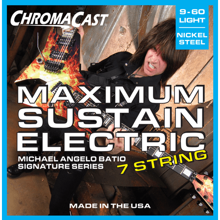 ChromaCast Michael Angelo Batio Signature Series Maximum Sustain 7 String Electric Guitar Strings, Light Gauge