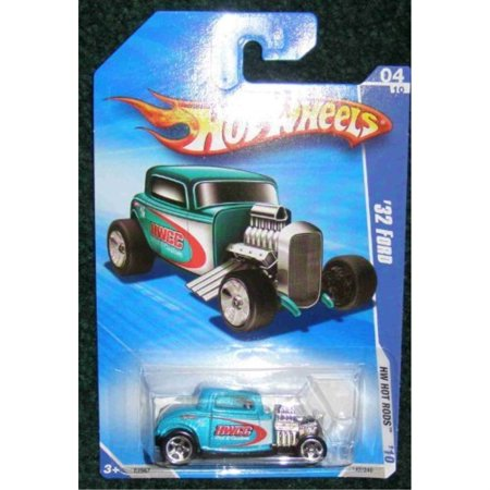 2010 hot wheels hw hot rods hwcc rod & custom 04 of 10 teal '32 ford 32 Ford Coupe Hot Rod