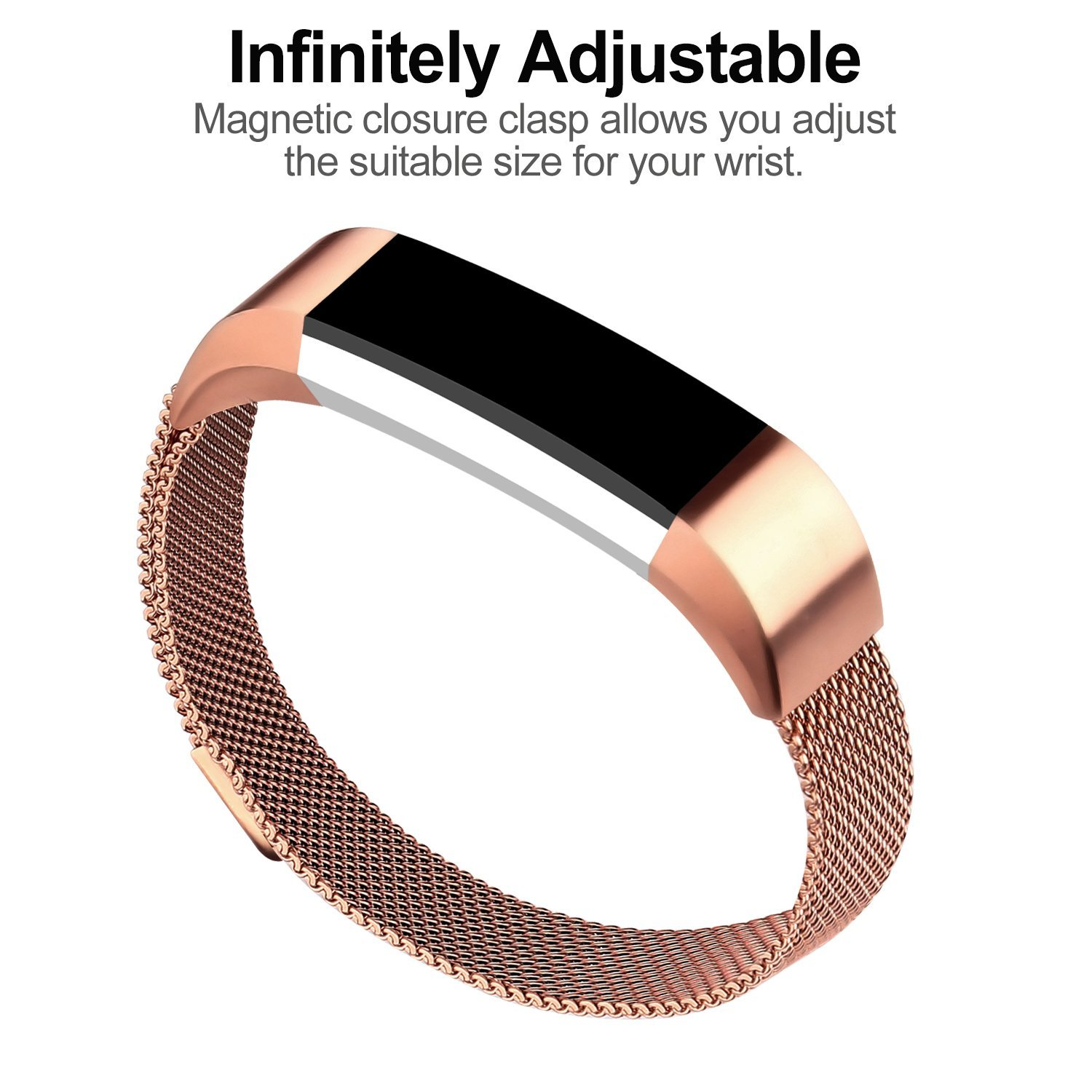 For Fitbit Alta Bands Hr Replacement Accessories Milanese Loop Stainless Steel Metal Bracelet Strap With Magnet Lock Accessory