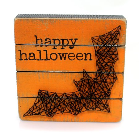 Halloween BAT BOX SIGN Wood String Art 35827