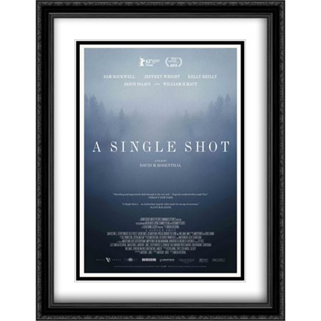 A Single Shot 28x36 Double Matted Large Large Black Ornate Framed Movie Poster Art Print ()