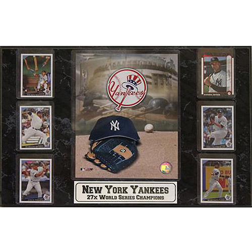 MLB New York Yankees 6-Card Plaque, 13x20