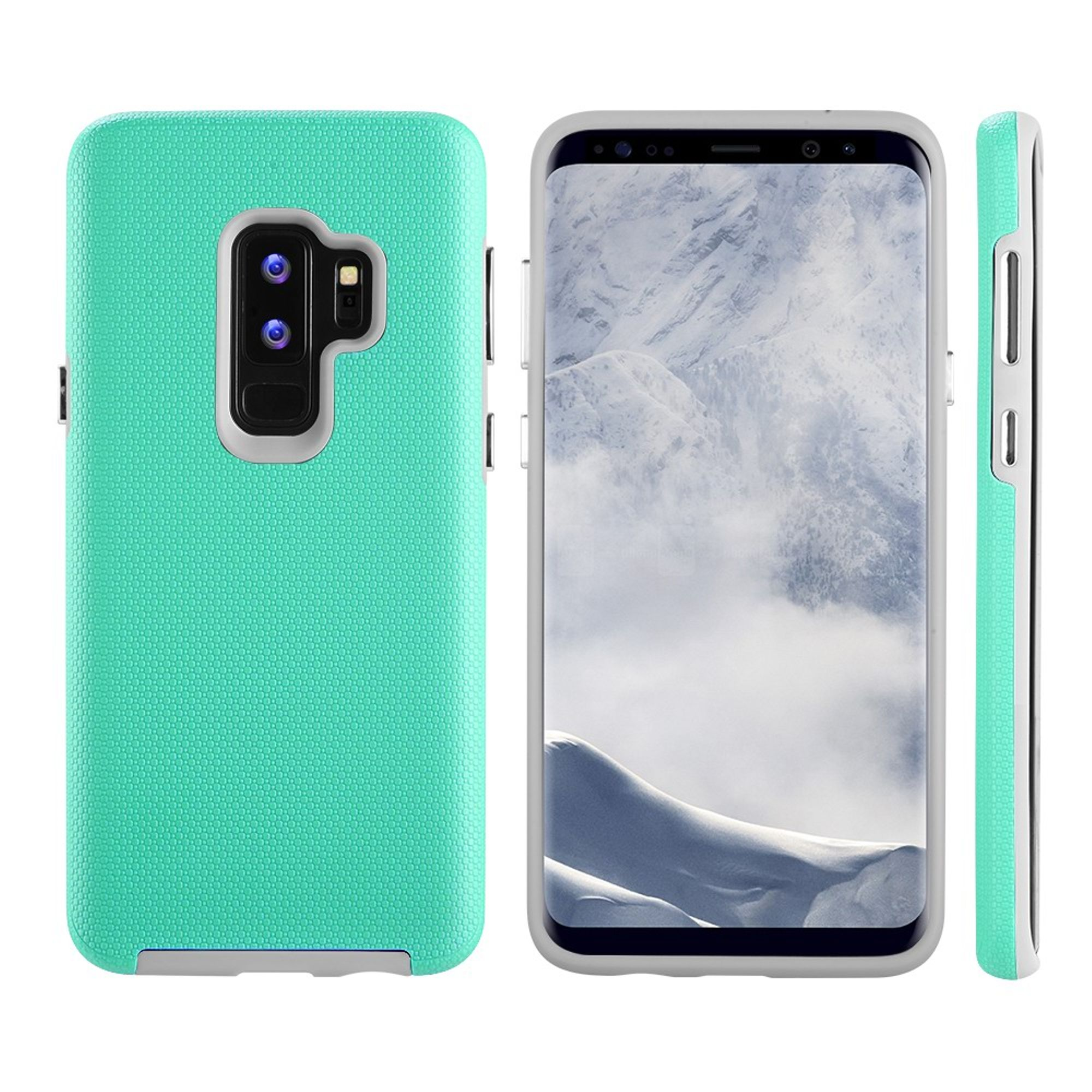 Samsung Galaxy S9 Plus Case, by Insten Hard Plastic/Soft TPU Rubber Dual Layer [Shock Absorbing] Hybrid Case Phone Cover For Samsung Galaxy S9 Plus