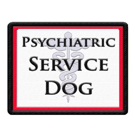 Psychiatric Service Dog Patch for Service Dog Vest or Harness
