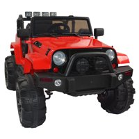 UBesGoo New Kids 12V Ride On Car Truck W/ Remote Control, 3 Speeds, LED Headlights,Spring Suspension - Toy Gift