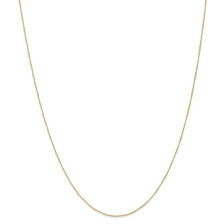 Roy Rose Jewelry 14K Yellow Gold Carded Curb Chain Necklace ~ Length 18'' inches