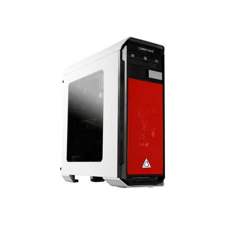 CybertronPC Rhodium 240 Red Gaming Desktop - AMD FX-4300, 8GB DDR3, AMD  Radeon R7 240, 1TB HDD, Windows 10