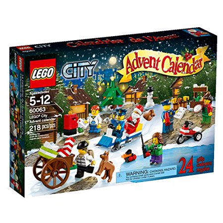 LEGO City Town Advent Calendar Stacking Toy 60063(Discontinued by manufacturer) ()