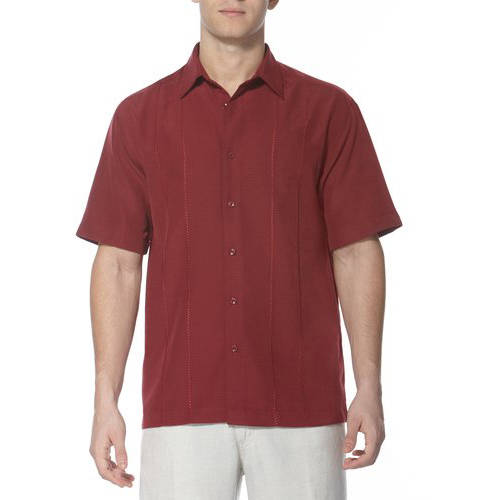 Caf Luna Men's Tonal Two Panel Woven Shirt