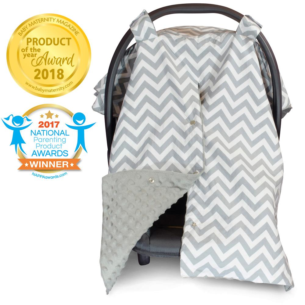 Summary Of Customer Reviews For Kids N Such 2 In 1 Car Seat Canopy Cover With Peekaboo Opening Large Carseat Cover For Infant Carseats Best For Baby Girls And Boys