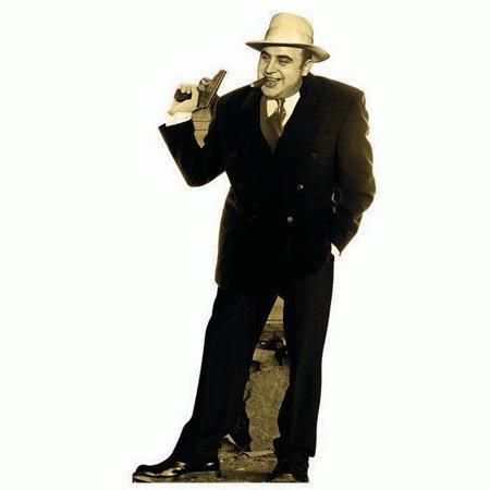 H19903 Al Capone Cardboard Cutout Standup - Black Cat Cutout