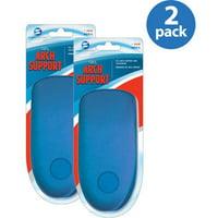 (2 Pack) Sof Comfort Men's Gel Arches, 1-Pair