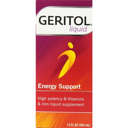 Geritol Liquid High Potency Vitamin & Iron Supplement 12oz Each