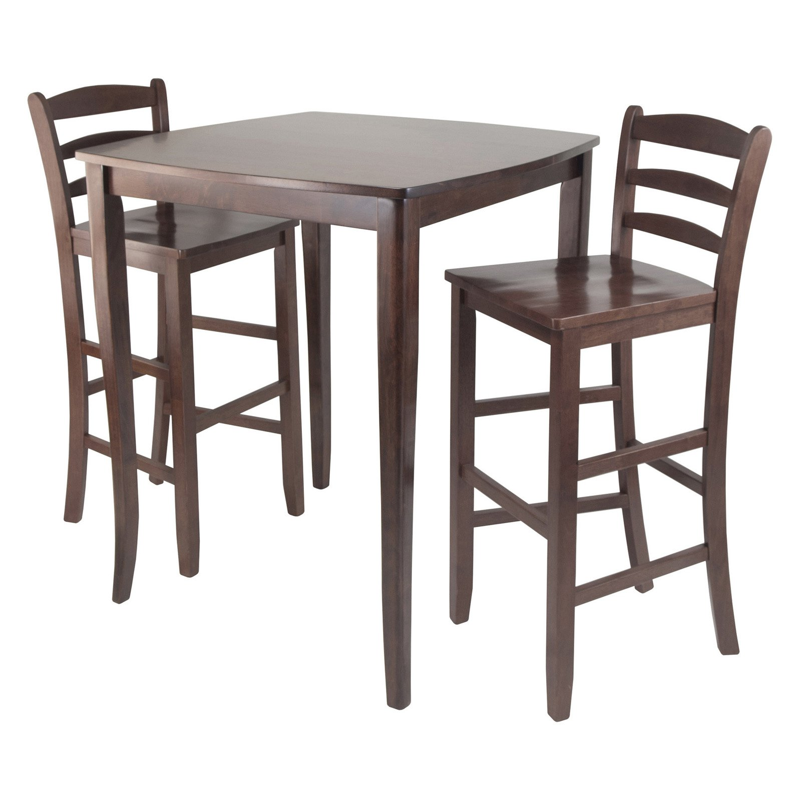 winsome inglewood 3piece pub table set with ladder back stools