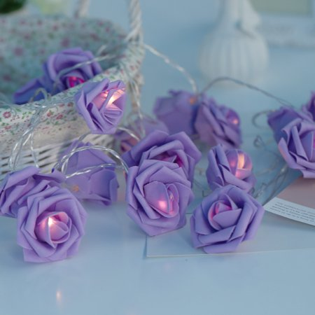 20/40 LED Camellia Flower String Light for Party Wedding Festival Garden Home Decor - Flower String Lights