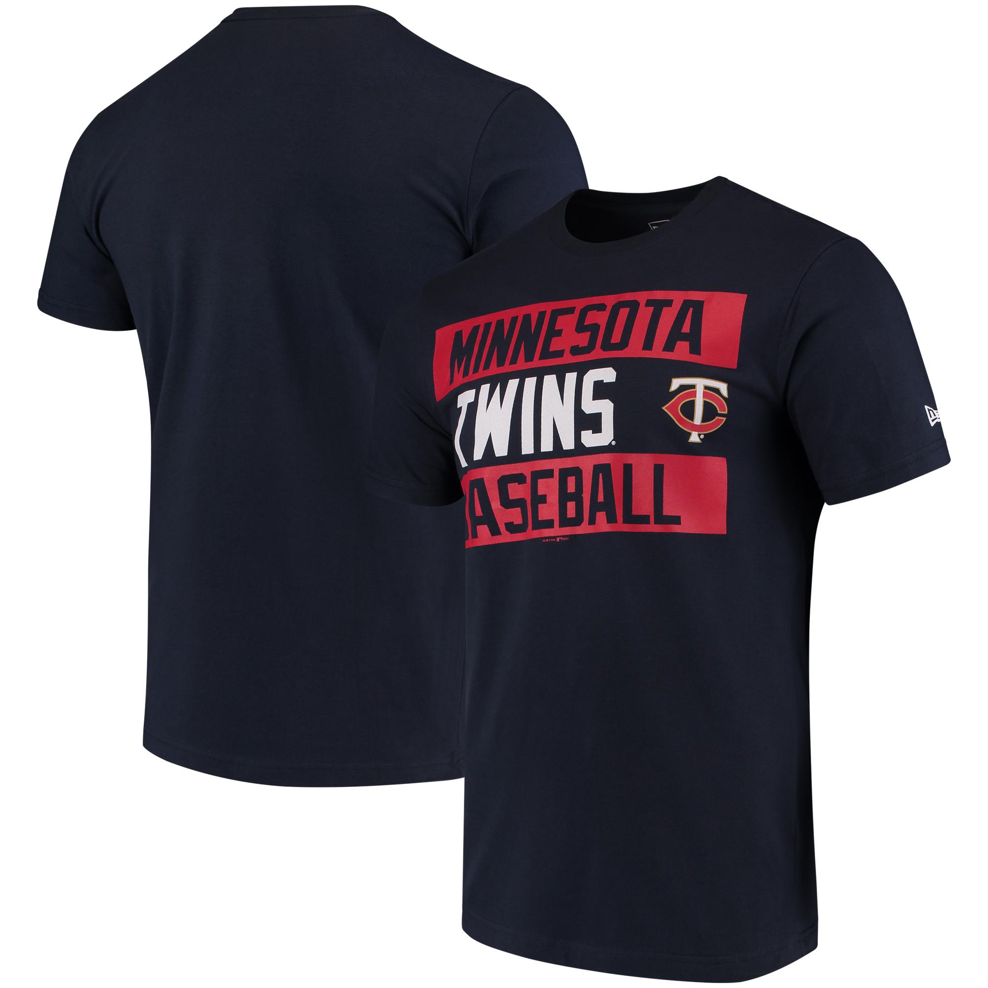 Minnesota Twins New Era Bars Jersey T-Shirt - Navy