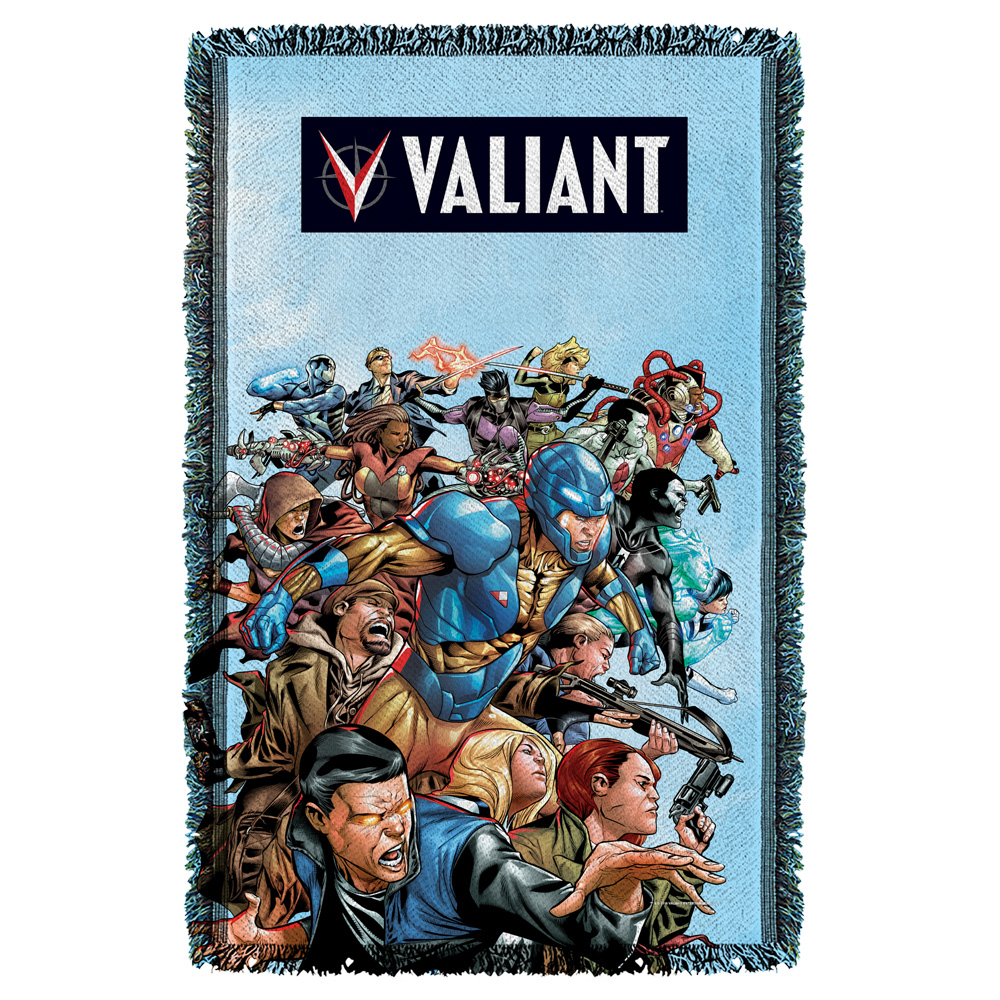 Valiant Group Attack Woven Throw Tapestry 36X60 White One Size