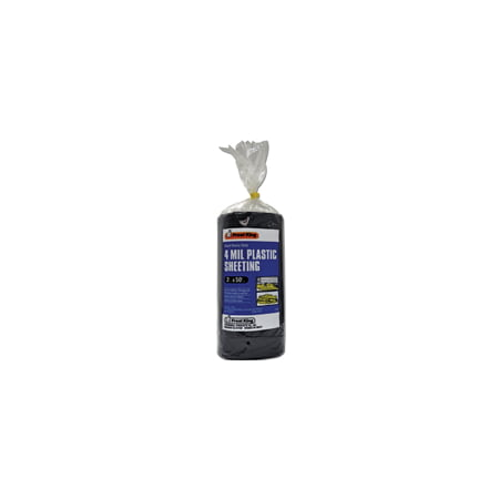 Image of Frost King P350BW Extra Heavy-Duty Polyethylene Sheeting, 50 ft L, 3 ft W, 4 mil Thick, Black