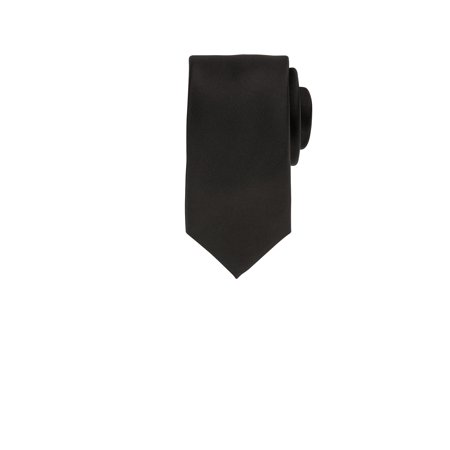 - Solid Black Men's Haines & Bonner Tie