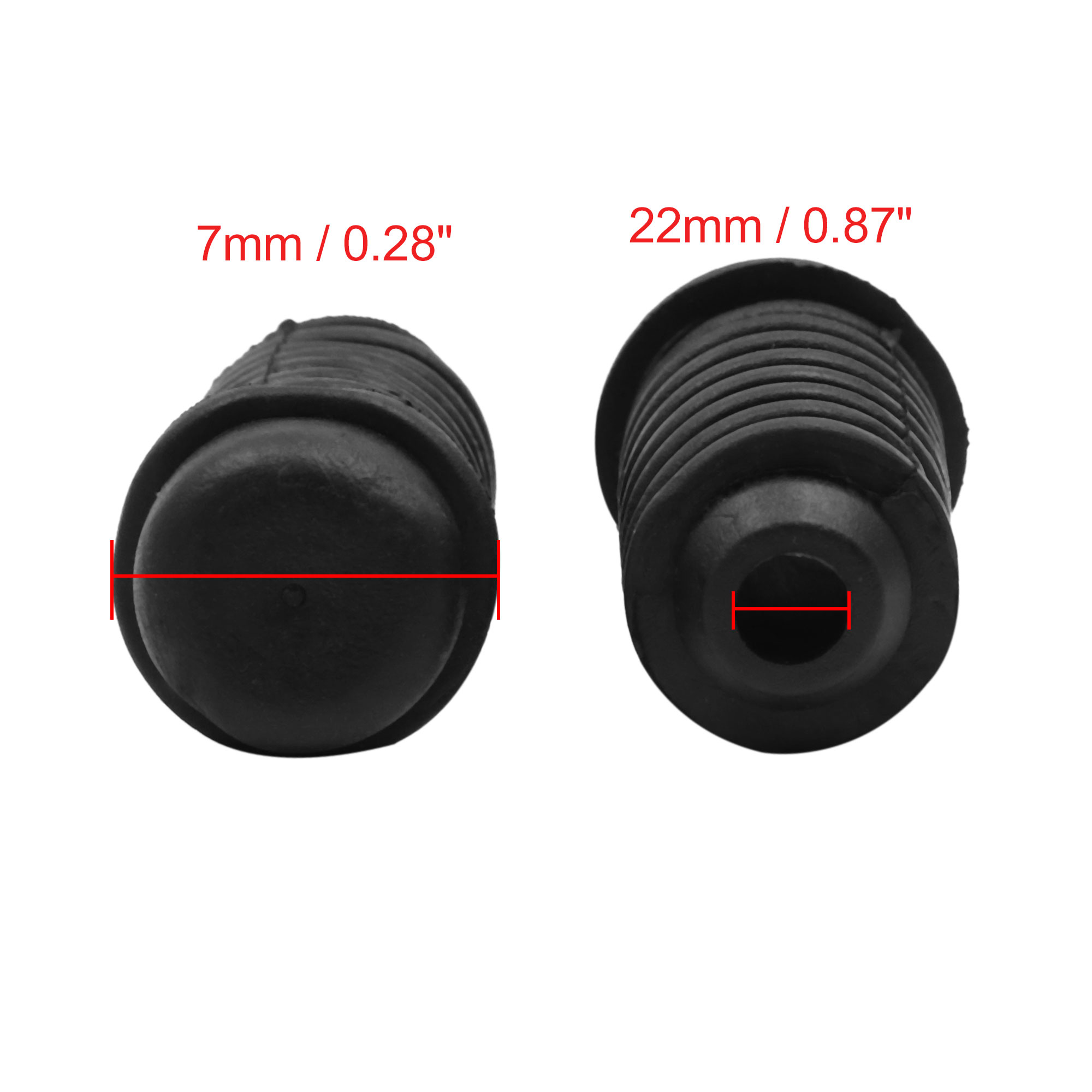 2pcs 22 x 47.5mm Auto Buffer Mount Rubber Block Absorber for Car Door Trunk Hood - image 1 de 4