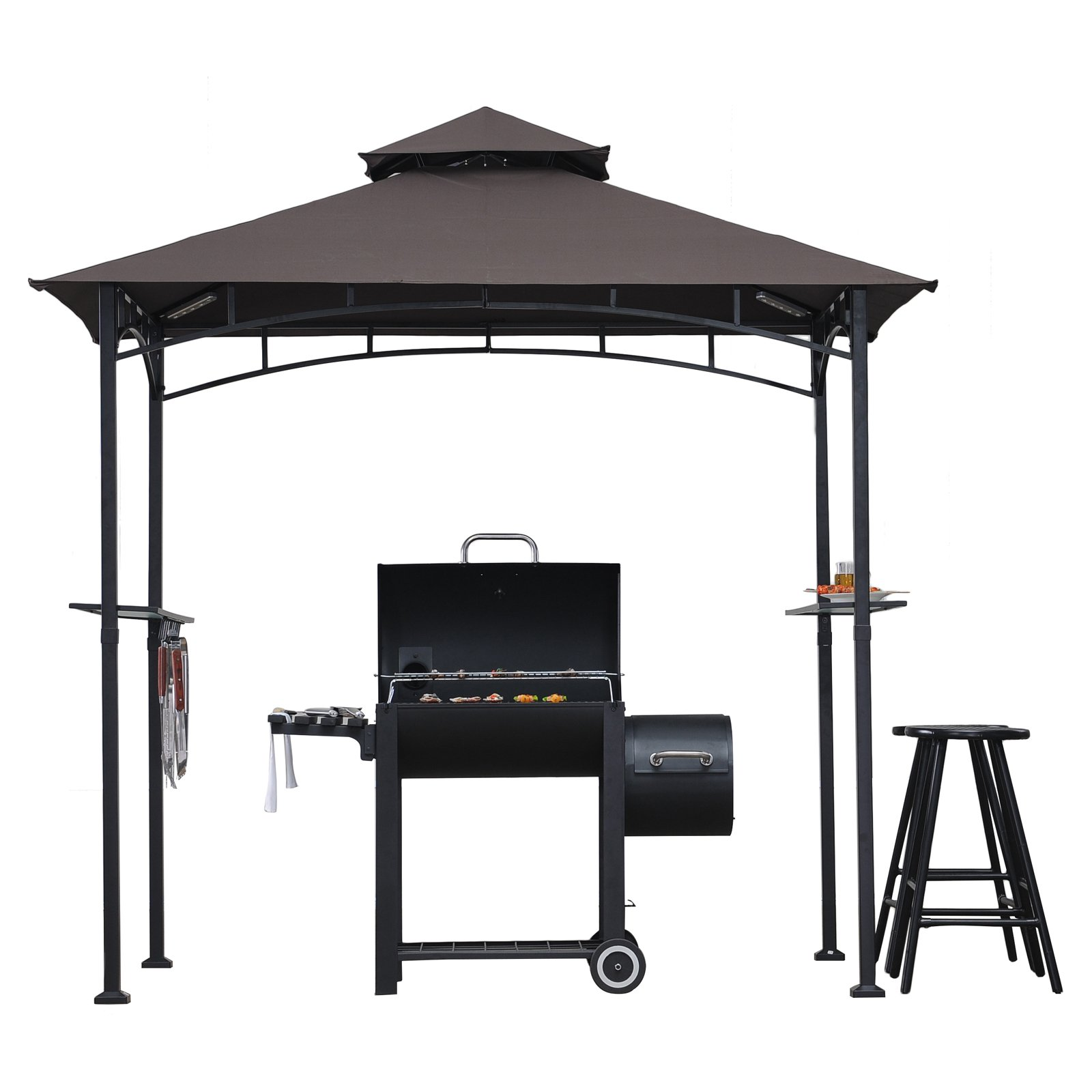 Sunjoy 8 x 5 ft. Hacienda Grill Gazebo